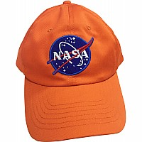 Jr. Astronaut Cap, Orange, Adj Youth Size