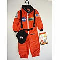 Jr. Astronaut Suit With Embroidered Cap, Child Sizes (orange)
