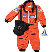 Jr. Astronaut Suit w/Embroidered Cap, size 18Month (Orange)