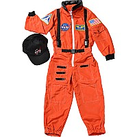 Jr. Astronaut Suit w/Embroidered Cap, size 4/6 (Orange)
