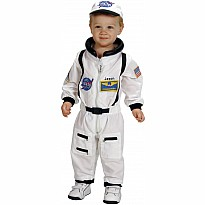 Jr. Astronaut Suit w/Embroidered Cap, size 18Month (White)