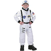 Jr. Astronaut Suit w/Embroidered Cap, size 2/3 (White)