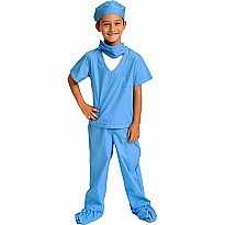 Jr. DR. Scrubs, Size 6/ 8, Blue