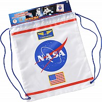 Drawstring Backpack Astronaut (White)