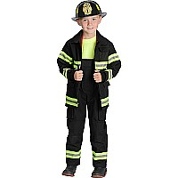 Jr. Firefighter Suit, size 4/6 (Black) (Choice of Helmet Sold Separately)