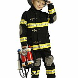 Aeromax Jr. Fire Fighter Suit, Child - Sizes Black