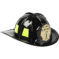 Jr. Fire Fighter, Helmet Only, Black, Adj Youth Size