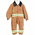 Tan Jr. Fire Fighter Suit, Child Size 8-10
