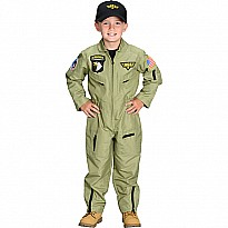 Jr. Fighter Pilot Suit w/Embroidered Cap, size 2/3
