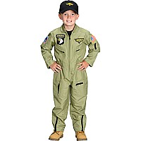 Jr. Fighter Pilot Suit w/Embroidered Cap, size 4/6