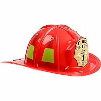 Jr. Firefighter Helmet, Red, Adj Youth Size