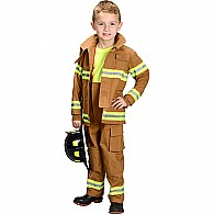 Jr. Fire Fighter Suit, Size 2/ 3 (tan)