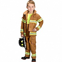 Jr. Firefighter Suit, size 6/8 (Tan) (Choice of Helmet Sold Separately)