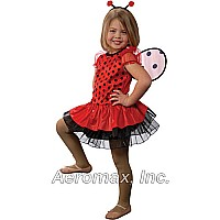 Jr. Ladybug w/Detachable wings & headband, size 4/6