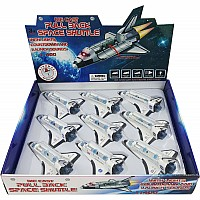 Pull Back Space Shuttle w/Lights & Sound -Tray Pack