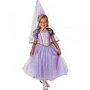 Aeromax Princess Dress With Hat, Child - Sizes Purple