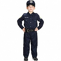Jr. Police Officer Suit w/Cap & Belt, size 2/3