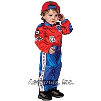 Aeromax Jr. Champion Racing Suit Size 18M (Red/Blue)