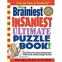 Brainiest, Insaniest Puzzle Book! - Paperback