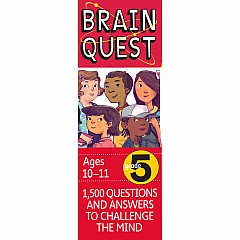 Brain Quest Deck: Grade 5, - 1,500 Questions and Answers to Challenge the Mind