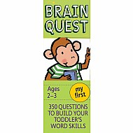 My First Brain Quest Q&A Cards: 350 Questions to Build Your Toddler's Word Skills. Teacher Approved!