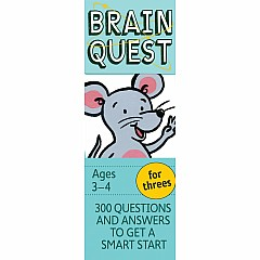 Brain Quest Deck: For Threes - 300 Questions and Answers to Get a Smart Start