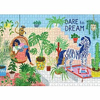"Dare to Dream 1,000-Piece Puzzle: (Flow) for Adults Families Picture Quote Mindfulness Game Gift Jigsaw 26 3/8"" x 18 7/8"""