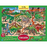 My Big Wimmelpuzzle—Dinosaurs Floor Puzzle, 48-Piece