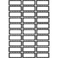 Magnetic Die-Cut Small Foam Nameplates & Labels 30 Pcs Black & White Dots