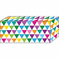 "Block Magnet, Heavy Strength, 1 7/8""x7/8""x3/8"", Colorful Triangles"