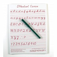 "D'Nealian Cursive Write-On/ Wipe-Off Board With Pen 9""X12"""