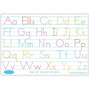 "Smart Poly Learning Mat 12""X17"" Double-Sided Manuscript Tracing"