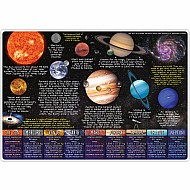 "Smart Poly Learning Mat 12""X17"" Double-Sided Solar System"