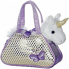 Fancy Pals -  Unicorn Pet Carrier 7in