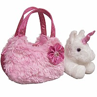 Fancy Pals - Plush Pink Pet Carrier 7""