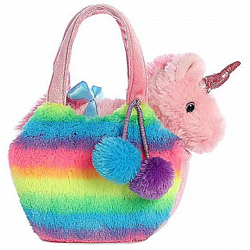 Rainbow Unicorn Purse 7in
