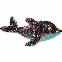 "11"" Sequin Sparkles - Rainbow Dollyphin"