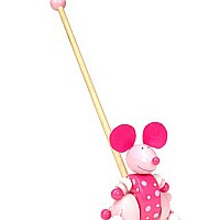 Pink Mouse Push Along