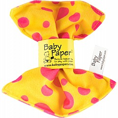 Baby Paper Yellow W/Pink Dots