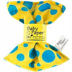 Baby Paper Yellow W/Blue Dots