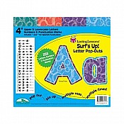 "New! Surf's Up! 4"" Letter Pop-outs"