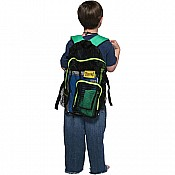 Mesh Back Pack- Lime Trim wGreen Straps