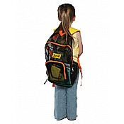 Mesh Back Pack- Orange Trim wYellow Straps