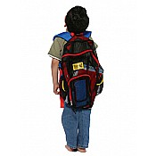 Mesh Back Pack- Red Trim wBlue Straps