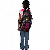 Mesh Back Pack- Purple Trim wPink Straps