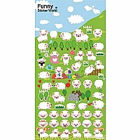 Sheep Puffy Stickers