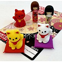 Japanese Doll and Cat Card-10