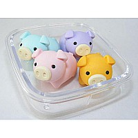 4 Pig Erasers Square Box-10