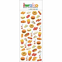 Iwako Gel Fastfood Sticker-12