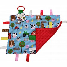 14x18 Farm Learning Lovey With Ribbon Tabs